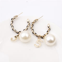 Stylish Alloy Leatherette Women's Earrings