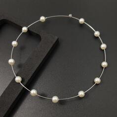 Simple Bohème Alliage avec Perle d'imitation Boucles d'oreilles (Lot de 2)