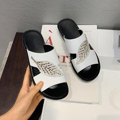 Vrouwen PU Flat Heel Sandalen Slippers schoenen