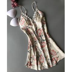 Polyester Floral Slip Robe