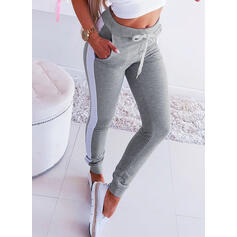 Shirred Drawstring Long Casual Sexy Pants