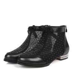 Pentru Femei Piele Reală Toc jos Cizme cu Altele pantofi