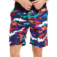 Men's Zebra-stripe Board Shorts