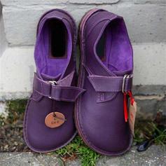 Women's PU Flat Heel Flats With Ribbon Tie shoes