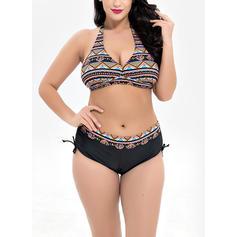 Colorat Se leagă după gât Frumos Bikini Mayolar