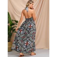 Print Sleeveless A-line Casual/Boho/Vacation Maxi Dresses
