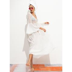 Cor Sólida Na moda Túnicas Maiôs