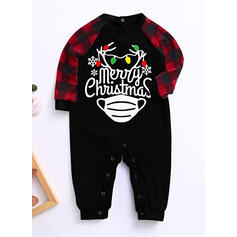 Plaid Letter Print Family Matching Christmas Pajamas
