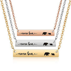 Mama Bear Alloy Mother Daughter Necklace