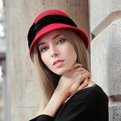Ladies ' Glamourøse/Elegant/Enkle Uld Diskette Hat