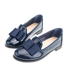 Fille de similicuir talon plat Bout fermé Mocassins et Slip-Ons Chaussures plates avec Bowknot