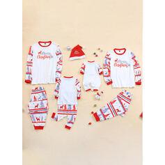 Deer Carta Impressão Família Combinando Natal Pijama