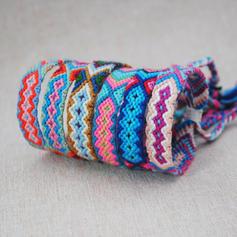 Fashionable Stylish Punk Basketwork Unisex Fashion Bracelets (Set of 12 pairs)