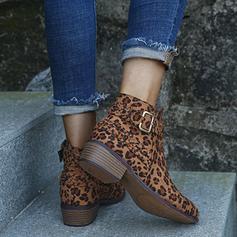 Жіночі ПУ Квадратні підбори Бокові черевики з Блискавка взуття