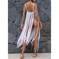 Solid Color Strap Bohemian Cover-ups Swimsuits