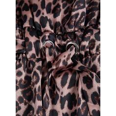 Leopard Ärmellos Etui Slips Sexy/Freizeit/Urlaub Midi Kleider