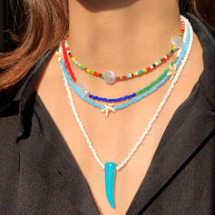 élégant Résine Imitation turquoise Colliers