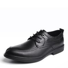 Cordones U-Tip Zapatos de vestir Piel Hombres Zapatos Oxford de caballero