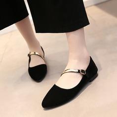 Kvinnor Mocka Flat Heel Platta Skor / Fritidsskor Stängt Toe Mary Jane med Paljetter skor