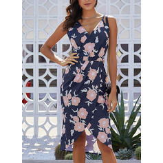 Print/Floral Sleeveless A-line Asymmetrical Casual/Boho/Vacation Dresses