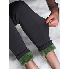 Couleur Unie Grande taille Élégante Sexy leggings