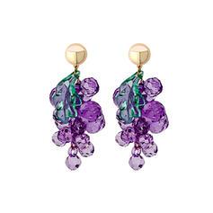 Fruit Alloy Resin Earrings (Set of 2)