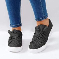 Femmes Tissu Talon plat Chaussures plates avec Fleur en satin chaussures