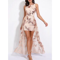 Sequins Sleeveless A-line Party/Elegant Maxi Dresses
