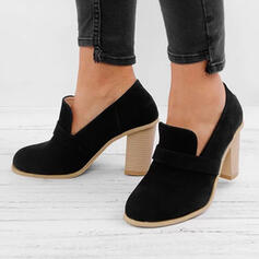 Women's PU Chunky Heel Pumps Boots With Others shoes