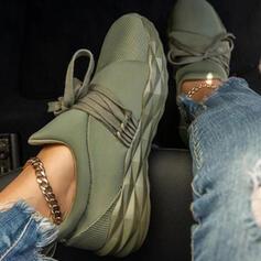 Donna Panno Mesh Senza tacco Ballerine Sneakers con Allacciato Colore giuntura scarpe