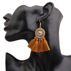 Stylish Alloy Braided Rope With Tassels Women's Fashion Earrings (Sold in a single piece)