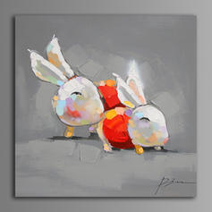 Modern Style Rectangulaire Peintures Animaux