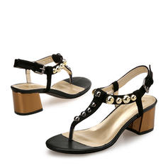 Femmes Suède Talon bottier Sandales Escarpins À bout ouvert Escarpins avec Rivet chaussures