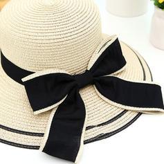 Ladies' Classic/Handmade With Bowknot Straw Hats/Beach/Sun Hats