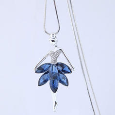 Fashionable Alloy Rhinestones Glass Ladies' Fashion Necklace
