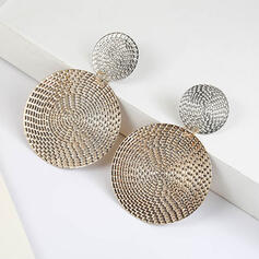 Unique Shining Alloy Earrings (Set of 2)