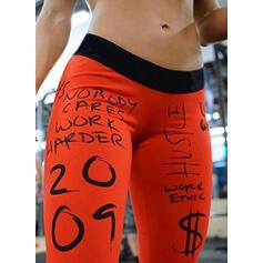 Print Long Long Skinny Sporty Print Yoga Leggings