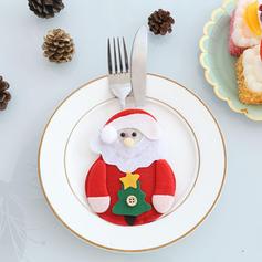 Monigote de nieve Reno Papa Noel Navidad Tela no tejida Cubierta de vajilla