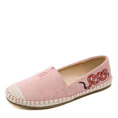 Donna Tela Senza tacco Ballerine Punta chiusa scarpe