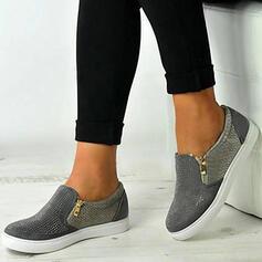 De mujer PU Casual al aire libre con Cremallera Agujereado zapatos