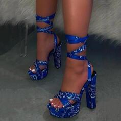 Жіночі ПУ Квадратні підбори Сандалі взуття
