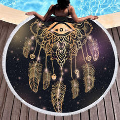 Retro/Vintage Oversized/round Beach Towel