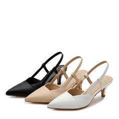 Women's Leatherette Stiletto Heel Sandals Closed Toe Slingbacks shoes