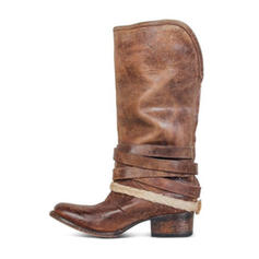 De mujer PU Tacón ancho Botas con Hebilla zapatos