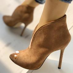Vrouwen Microfiber leer Stiletto Heel Pumps Peep Toe met Anderen schoenen