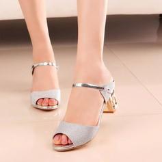 Femmes PU Talon bas Sandales À bout ouvert avec Autres chaussures