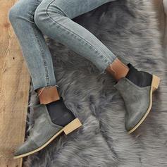 Női PU Chunky sarok Csizma cipő