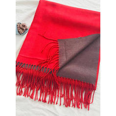 Striped/Solid Color Cold weather Scarf