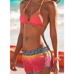 Высокая талия недоуздок Спортивный марочный Bikinis купальников