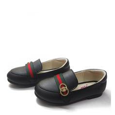 Fille de similicuir talon plat Bout fermé Chaussures plates avec Strass